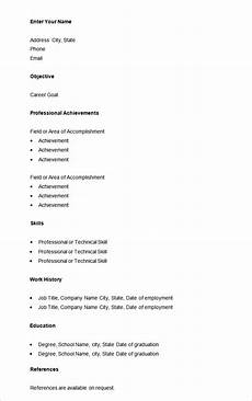 basic job resumes 70 basic resume templates pdf doc psd free