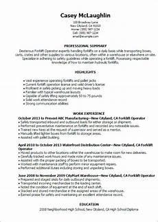 Resume For Forklift Operator Forklift Operator Resume Template Best Design Amp Tips