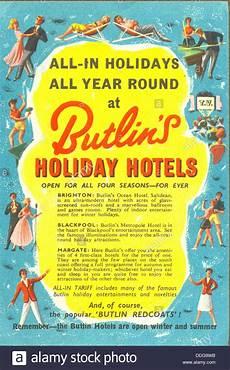 Advertisement Leaflets Advertising Leaflet For Butlin S Holiday Hotels Stock