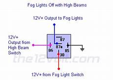 Fog Light Diagram With Relay Fog Lights Off With High Beams On Relay Wiring Diagram