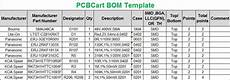 Example Bom How To Create A Bom Bill Of Materials Pcbcart