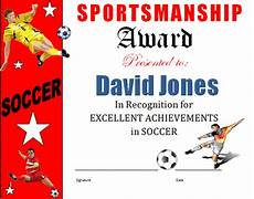 Soccer Certificate Templates For Word Sports Certificate Templates Excel Xlts