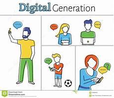 Digital Generation Digital Generation Stock Vector Image 58689962