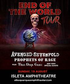 Marks And Harrison Amphitheater Seating Chart Cancelled End Of The World Tour Avenged Sevenfold