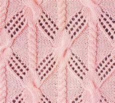 lace and cable knitted stitch combo
