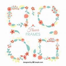 scaricare cornici per foto gratis set di cornici di fiori in stile piano scaricare vettori