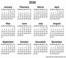 Printable Yearly Calendar 2015 2020 2015 2020 Calendar Printable Printable Yearly Calendar