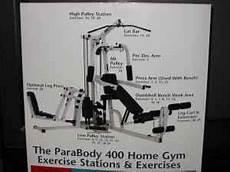 Parabody Home Gym Workout Chart Parabody 400 Home Gym W Leg Press Clermont Florida