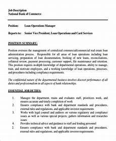 Operations Associate Job Description Sample Operation Manager Job Description 9 Examples In