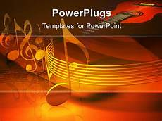 Musical Powerpoints Powerpoint Template Series Of Metallic Musical Notes