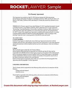 Sample Tenancy Agreement Doc Co Tenancy Agreement Form Co Tenant Contract Sample