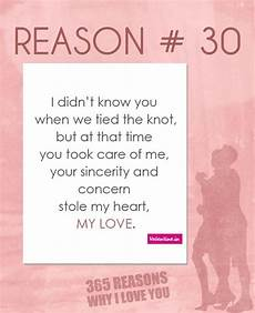 30 Reasons Why I Love You Reasons Why I Love You 30 365 Love Quotes For Him