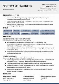 Objective In Resume For Software Engineer Experienced Software Engineer Resume Example Amp Writing Tips Resume