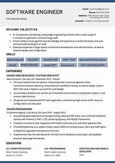Software To Make Resume Software Engineer Resume Example Amp Writing Tips Resume