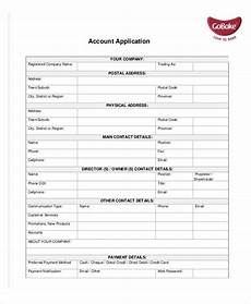 Account Template Application Template 10 Free Word Pdf Documents