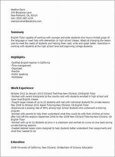 Resume English Template Professional English Tutor Templates To Showcase Your