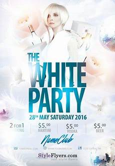 Free All White Party Flyer Template White Party Psd Flyer Template 8111 Styleflyers