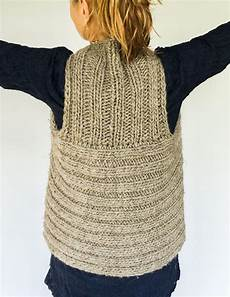 moto vest back knit from radius yarn windrush bulky http
