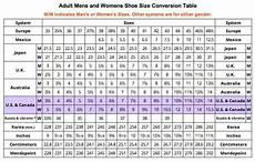 Men And Women Shoe Conversion Chart Shoe Size Conversion Table Shoe Size Conversion Felted