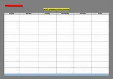 Blank Revision Timetable Template Blank Revision Timetable Sheet For Students To Complete