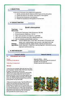 Detailed Lesson Plan Earth S Atmosphere