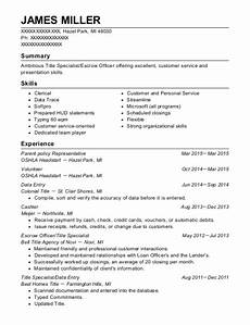Escrow Officer Resume First American Title Escrow Officer Resume Sample Resumehelp