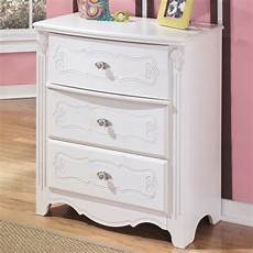 shop signature designs by exquisite white 3 drawer