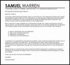 Management Trainee Cover Letter Samples Cover Letter Marketing Management Trainee Management