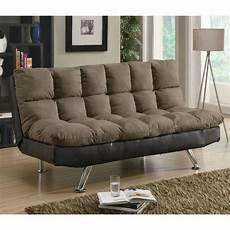 sofa beds and futons contemporary brown microfiber
