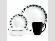 Corelle Livingware 16 Piece Dinnerware Set, Black Night