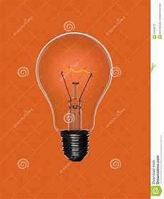 Orange Filament Light Bulb Bulb Light On Orange Stock Image Image Of Full Filament