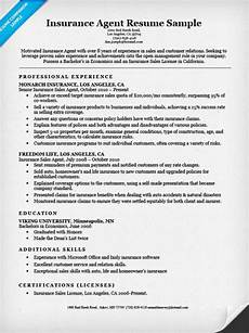 Insurance Agent Resumes Insurance Agent Resume Sample Resume Companion