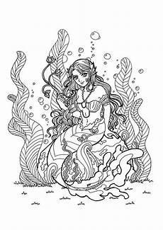 Ausmalbilder Erwachsene Meerjungfrau Meerjungfrau Ausmalen Meerjungfrau Erwachsene Ausmalen Etsy