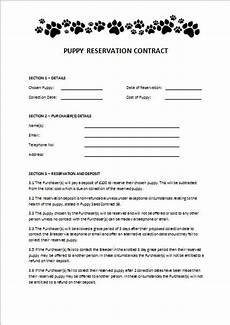 Puppy Contract Of Sale Items Similar To Puppy Reservation Contract On Etsy