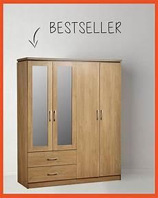 seconique charles 4 door 2 drawer mirrored wardrobe in oak