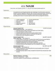 Resume For Account Best Accounts Payable Specialist Resume Example Livecareer