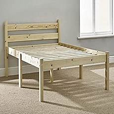 wooden solid pine small bed frame f6 with sturdy