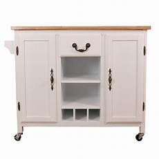 kitchen trolleys and islands basicwise white large wooden kitchen island trolley with