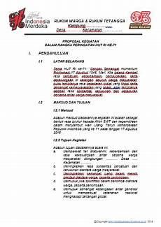 contoh proposal 17 agustus peringatan hut kemerdekaan ri