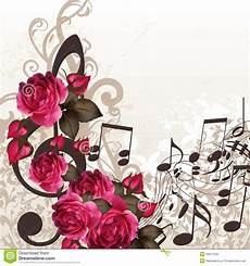 Flower Wallpaper Song by Vector Background With Treble Clef And Roses For