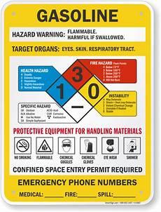 Gasoline Color Chart Gasoline Signs Gasoline Safety Signs Gasoline Warning