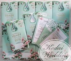 undangan pernikahan desain bunga bunga