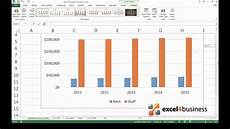 Column Chart Excel How To Create A Clustered Column Chart In Excel 2013 Youtube