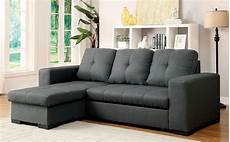 denton sectional w pull out sleeper gray by furniture