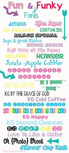 Fun Fonts Cute Free Fonts For Teachers Teach Junkie