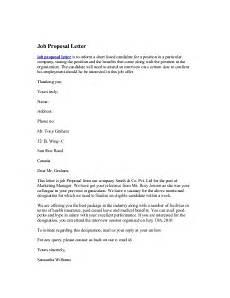 Job Proposal Letter Example Job Proposal Letter