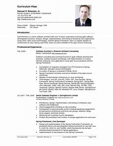 Curriculum Vitae Examples For Job Top 10 Cv Resume Example Architect Resume Sample Cv
