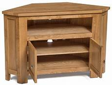 waverly oak 2 door corner tv stand unit hallowood