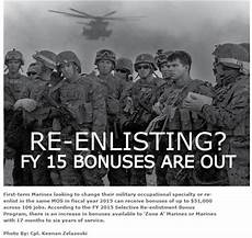 Army Reenlistment Bonus Chart Fy 15 Re Enlistment Bonuses Are Out Usmc Life