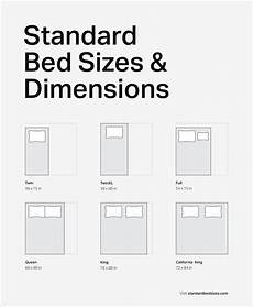 Standard Bed Sizes Chart Bed Sizes Amp Dimensions Guide Standardbedsizes Com